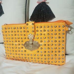 Beautiful studded clutch/crossbody bag